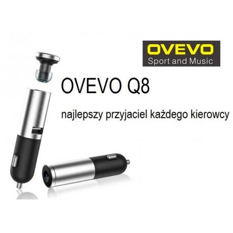 SŁUCHAWKA BLUETOOTH i ŁADOWARKA USB OVEVO Q8