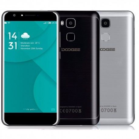 "DOOGEE Y6 OctaCore MTK6750 5.5"" HD 2GB RAM 16GB czytnik linii papilarnych Android 6.0 Marshmallow"