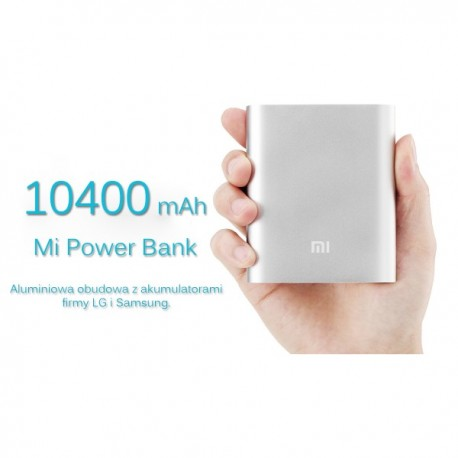 Powerbank Xiaomi 10400mAh 100% ORYGINALNY KOLOR SREBRNY