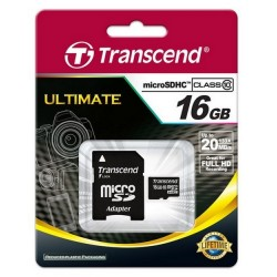 PAMIĘĆ microSD 16GB TRANSCEND CLASS 10 +ADAPTER